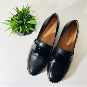 Madewell Elin Black Leather Loafers